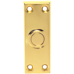 Carlisle Brass Victorian Bell Push 76 x 25mm Polished Brass - 27529 - from Toolstation