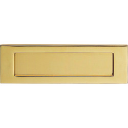 Carlisle Brass Victorian Letter Plate 257 x 80mm Polished Brass - 27645 - from Toolstation