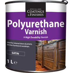 Barrettine Polyurethane Varnish Satin 1L - 27743 - from Toolstation