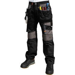 "Scruffs Scruffs 3D Trade Trousers 32"" R Black - 27744 - from Toolstation"