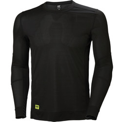 Helly Hansen Helly Hansen Lifa Crewneck Base Layer Top Small Black - 27758 - from Toolstation