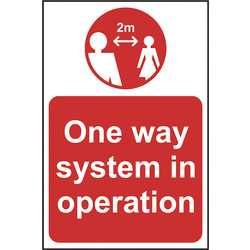 Centurion 'One Way System In Operation' Correx A-Board White/Red on Yellow - 27831 - from Toolstation