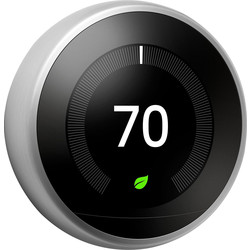 Google Nest Nest Learning Thermostat Stainless T3028GB - 27847 - from Toolstation