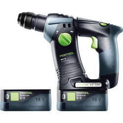 Festool Festool BHC 18 Li 18V Cordless SDS Drill 2 x 5.2Ah - 27957 - from Toolstation