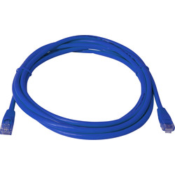 1.0m CAT5E UTP Patch Lead Blue - 27965 - from Toolstation