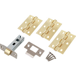 Fire Door Grade 7 Hinge & Latch Pack Electro Brass - 28109 - from Toolstation