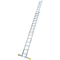 Lyte Ladders Lyte Trade Extension Ladder 2 Section, Closed Length 4.04m - 28127 - from Toolstation