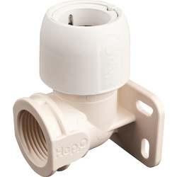 Hep2O Wall Plate Elbow 22mm x 3/4""