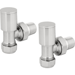Reina Portland Brushed Valve Angled - 28157 - from Toolstation