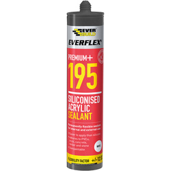 Everbuild Siliconised Acrylic Sealant 300ml White - 28222 - from Toolstation