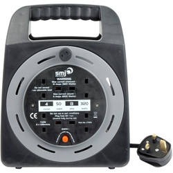 SMJ 4 Socket 13A Semi-enclosed Cable Reel 50m 240V - 28287 - from Toolstation