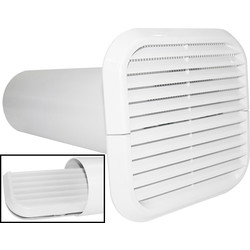 Xpelair Xpelair Simply Silent Extractor Fan Wall Kit 100mm White Square - 28327 - from Toolstation