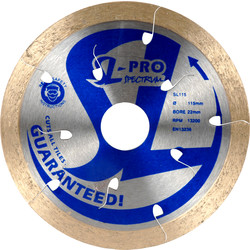 Spectrum Spectrum SL-Pro Ultimate Diamond Tile Cutting Disc 180 x 25.4/22.2mm - 28341 - from Toolstation
