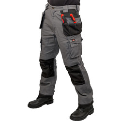 "Lee Cooper Lee Cooper 210 Heavy Duty Holster Pocket Trousers 36"" R Grey/Black - 28376 - from Toolstation"