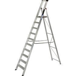 Youngman Youngman Heavy Duty Platform Step Ladder 10 Tread SWH 3.86m - 28394 - from Toolstation