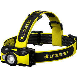 LED Lenser Ledlenser iH9R  Rechargeable Head Torch with Helmet Mount 600lm - 28440 - from Toolstation