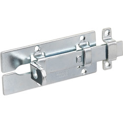 Heavy Duty Door Bolt 100 x 42mm, 9mm dia.