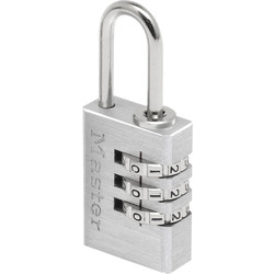 Master Lock Master Lock Combination Padlock Aluminium 20 x 55 x 9mm - 28515 - from Toolstation