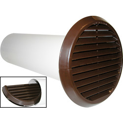 Xpelair Xpelair Simply Silent Extractor Fan Wall Kit 150mm Brown Round - 28586 - from Toolstation