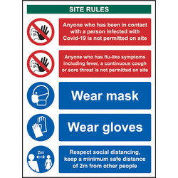 Centurion Covid-19 Workplace Safety Sign 400 x 300mm - 28624 - from Toolstation