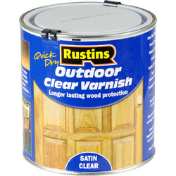 Rustins Rustins Quick Dry Outdoor Clear Varnish Satin 1L - 28701 - from Toolstation