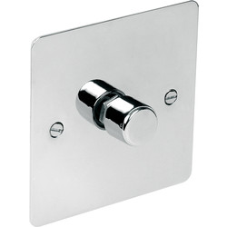 Axiom Flat Plate Polished Chrome LED Dimmer Switch 1 Gang 2 Way - 28709 - from Toolstation