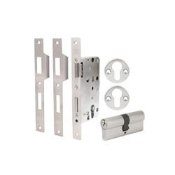Codelocks CL525 Mortice Lock with Double Cylinder, 3 Keys, Code Free Entry Option & Anti-Panic Safety Function