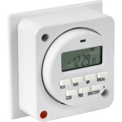 7 Day Electronic Lighting Timer 16A (8A)
