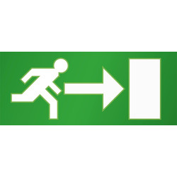 LED Emergency Exit Sign Light