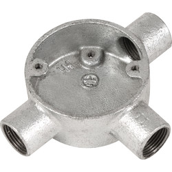 Deta Deta Metal Tee Box 20mm Galvanised - 28952 - from Toolstation