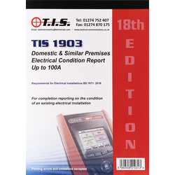 TIS TIS Test Certificate Book Domestic Installation Condition - 29273 - from Toolstation