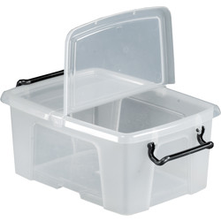 Barton Plastic Container with Hinged Folding Lid 12L - 29315 - from Toolstation