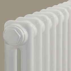 Arlberg Arlberg 2-Column Vertical Radiator 2000 x 394mm 3768Btu White - 29357 - from Toolstation