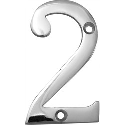 Chrome Numeral 75mm 2