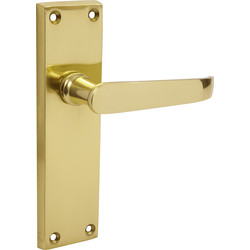 Victorian Straight Brass Handle Latch