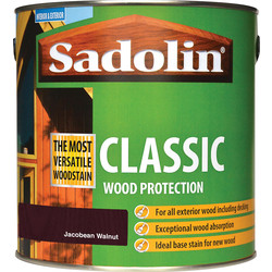 Sadolin Sadolin Classic Wood Stain 2.5L Jacobean Walnut - 29448 - from Toolstation
