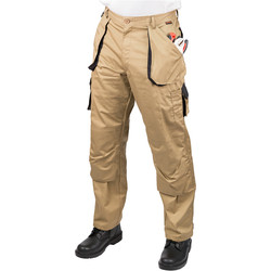 "Portwest Texo Contrast Trousers 36""-38"" R Khaki - 29492 - from Toolstation"