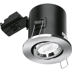Enlite Enlite Adjustable Fire Rated GU10 Downlight EN-FD102PC Chrome - 29494 - from Toolstation