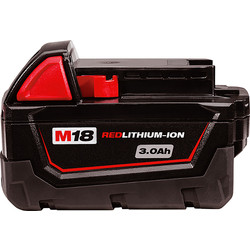 Milwaukee Milwaukee M18 18V Red Li-Ion Battery 3.0Ah - 29509 - from Toolstation