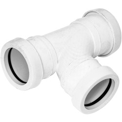 Aquaflow Push Fit Tee 40mm White - 29641 - from Toolstation