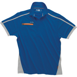 Scruffs Scruffs Pro Active Zip Polo Medium Blue - 29682 - from Toolstation