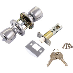 ERA ERA Door Knob Set Entrance Satin - 29779 - from Toolstation