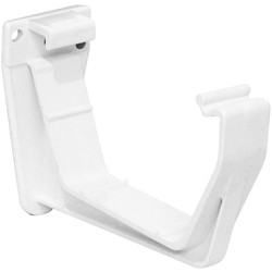 Aquaflow 114mm Square Line Fascia Bracket White - 29844 - from Toolstation