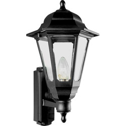 ASD ASD Coach Lantern IP44 Polycarbonate 100W BC Black - 29969 - from Toolstation