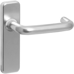 Eclipse Ironmongery Aluminium Round Bar Door Handles Latch Satin - 29970 - from Toolstation