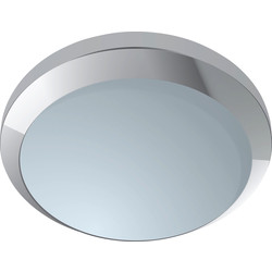 Eterna Aureola Fluorescent Ceiling Fitting Polished Chrome Effect - 30041 - from Toolstation