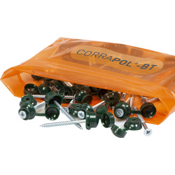 Corrapol Corrapol-BT Screw Cap Fixings Green - 30071 - from Toolstation