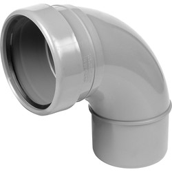 Aquaflow Bend 110mm 92.5° Socket / Spigot Grey - 30137 - from Toolstation