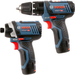 Bosch Bosch GSB 12 V-15 + GDR 12 V-105 12V Cordless Combi Drill & Impact Driver Twin Pack 2 x 2.0Ah - 30193 - from Toolstation