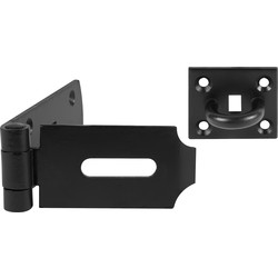 Heavy Duty Black Safety Hasp & Staple 254mm - 30218 - from Toolstation